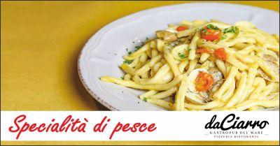 da ciarro offerta piatti di pesce occasione ristorante con pasta fatta in casa fano