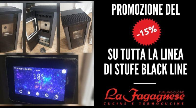 Vendita stufe a pellet black line scontate a Udine - occasione promozione stufe per la casa a Udine