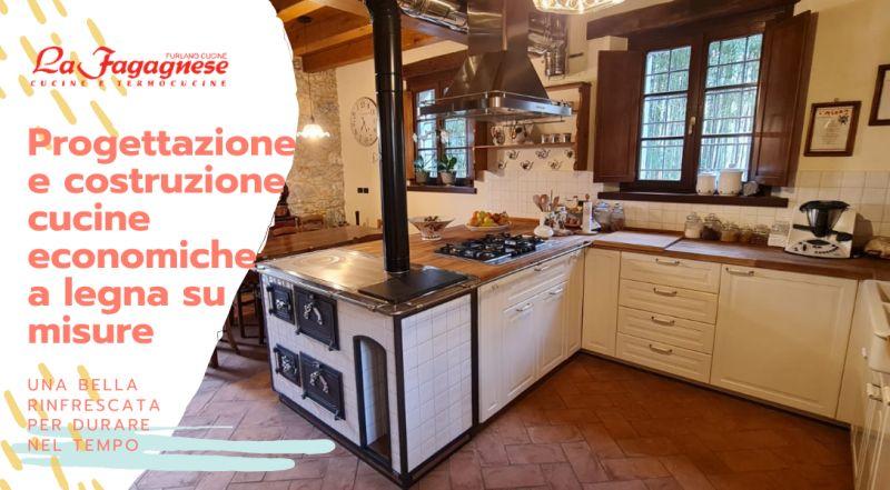 OCCASIONE rigenerazione di vecchie cucine a legna a Udine – offerta Progettiamo e realizziamo cucine economiche a legna su misura a Udine
