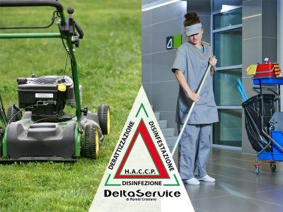 offerta servizi di pulizia promozione servizio giardinaggio delta service