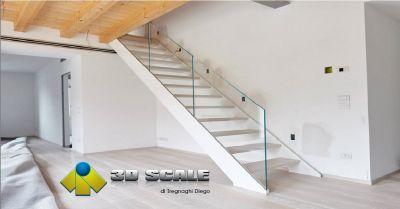 3d scale offerta realizzazione scale in vetro occasione produzione scale a giorno a verona