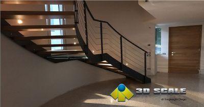 3d scale offerta produzione scale in ferro e legno occasione progettazione scale elicoidali