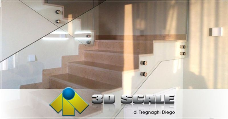 Offerta realizzazione ringhiere scale in vetro Vicenza - Occasione creazione parapetti balaustre in vetro Verona