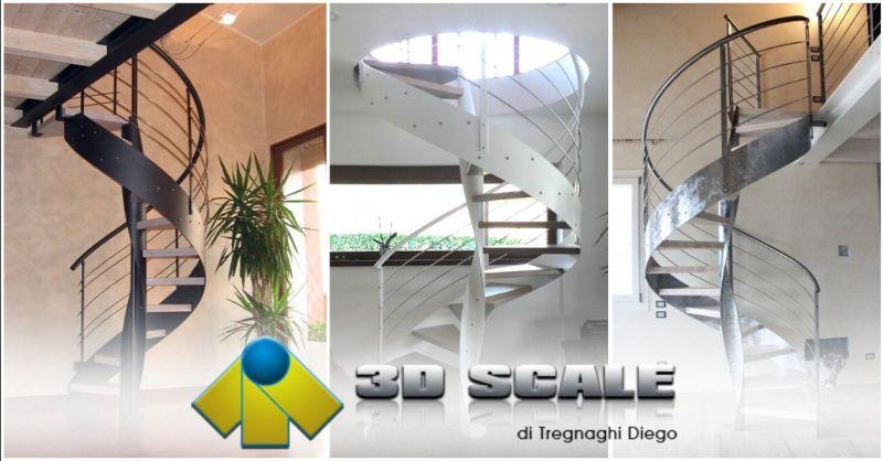 Offerta realizzazione scale elicoidali a chiocciola Vicenza - Occasione produzione scale elicoidali a giorno ferro legno