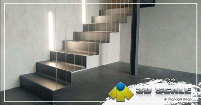 3d scale offerta realizzazione scale a giorno laser lama ferro legno provincia verona