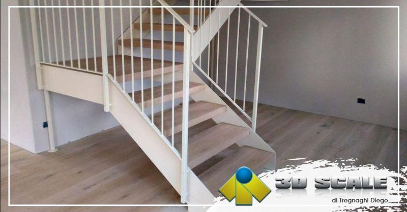 Offerta realizzazione scale a giorno in legno doppia struttura provincia Vicenza - Occasione soppalchi su misura