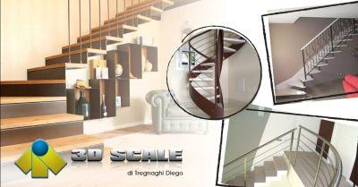 offerta realizzazione scale a giorno mono struttura occasione produzione scale in legno verona