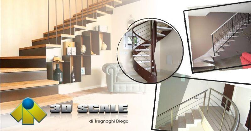 Offerta realizzazione scale a giorno mono struttura - Occasione produzione scale in legno Verona