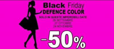 black friday sconto 50 bionike defence color 2017