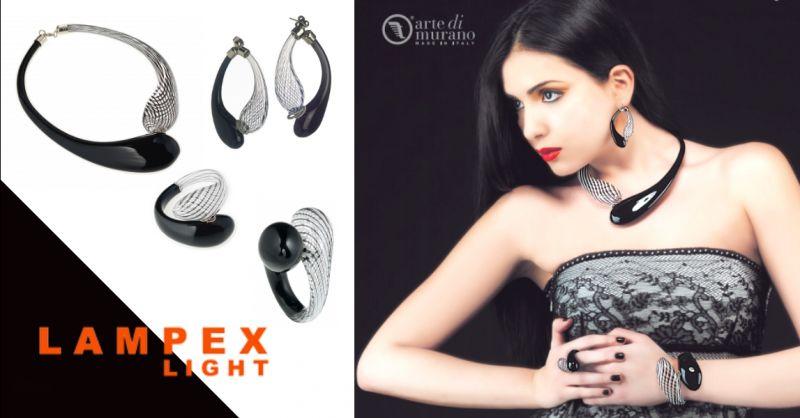 LAMPEX LIGHT - offerta vendita gioielli artigianali in vetro di Murano Piacenza