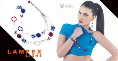 lampex light offerta vendita parure gioielli artigianali in vetro piacenza