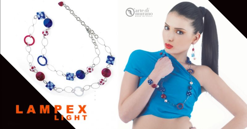 LAMPEX LIGHT - offerta vendita parure gioielli artigianali in vetro Piacenza