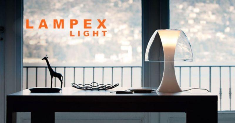 Offerta lampada da tavolo Oxygene De Majo - Occasione vendita lampada tavolo in vetro cristallo Cremona Lodi