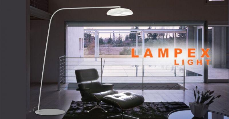 Offerta lampada da terra Reef De Majo - Occasione vendita piantana di design in vetro metallo Cremona Lodi