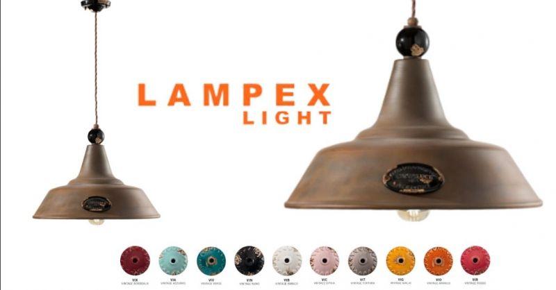 Offerta lampada a sospensione retrò Grunge Ferroluce - Occasione vendita lampada vintage sospensione Cremona Lodi