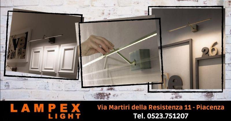 Offerta lampada a microstrisce led da parete Lodi - Occasione vendita lampada ZETA Icone Cremona