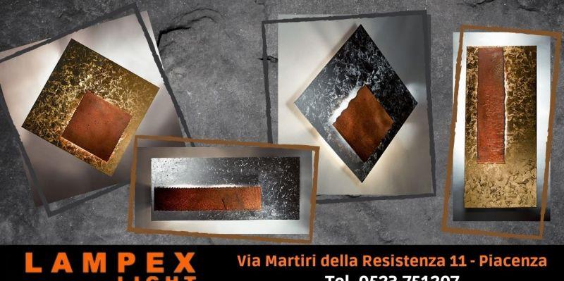 Offerta lampada da parete foglia oro argento artigianale - Occasione vendita lampada Piastra Icone Lodi