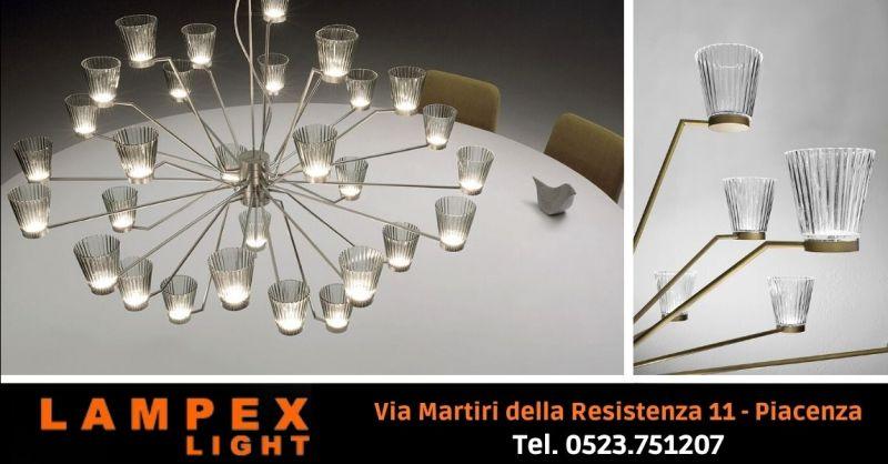 Offerta lampade da parete in vetro soffiato artigianale - Occasione lampadari moderni in vetro Cremona