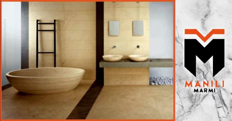 offerta realizzazione bagni in marmo Terni - occasione rivestimenti bagno in pietra naturale