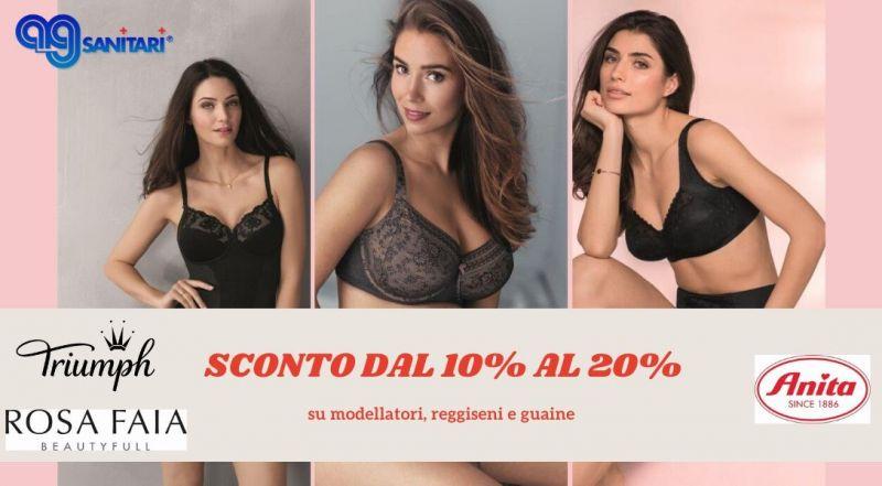 Offerta prodotti scontati reggiseni modellatori guaine Anita Rosa Faia Triumph a Treviso