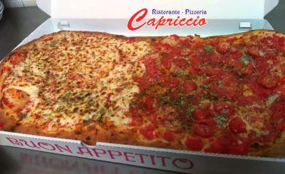 pizzeria capriccio offerta pizza al metro valderice promozione pizze familiari dasporto