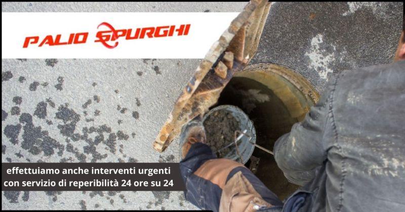 PALIO SPURGHI - offerta interventi disostruzione e stasatura fogne Siena