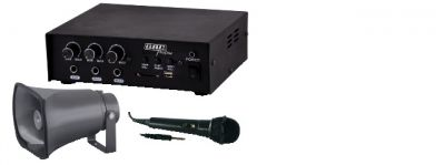 kit amplificatore 30w con mp3 tromba