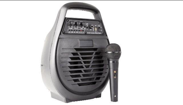 AMPLIFICATORE PA PORTATILE CON MICROFONO MP3 E BLUETOOTH