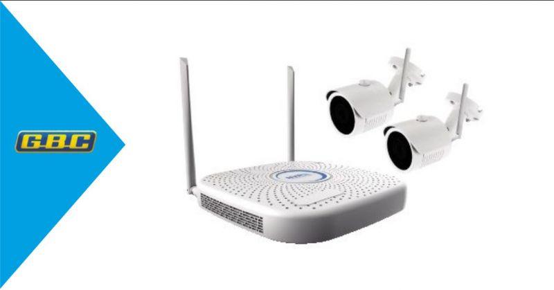 GBC - OFFERTA KIT WIFI PLUG PLAY CON NVR 4CH WIFI  5CH IP 2 TELECAMERE WI-FI IP DA 1MP