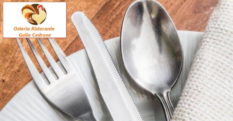 offerta osteria ristorante in provincia di Pordenone - promozione osteria gallo cedrone