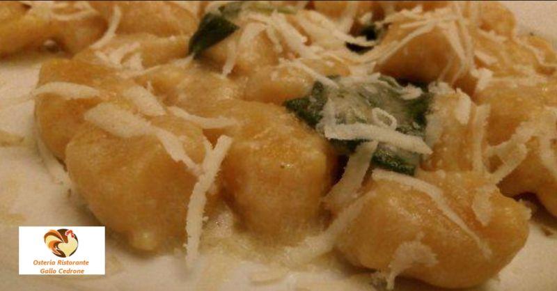 Osteria Ristorante Gallo Cedrone offerta primi piatti di montagna - occasione pasta fresca