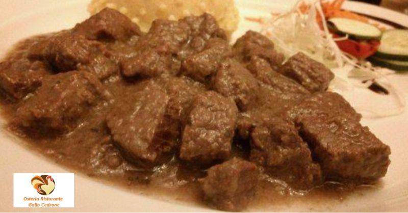 Osteria Ristorante Gallo Cedrone offerta secondi piatti tipici -occasione cibo locale Pordenone