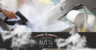 offerta lavaggio interni auto vapore bergamo occasione servizio sanificazione auto palazzago