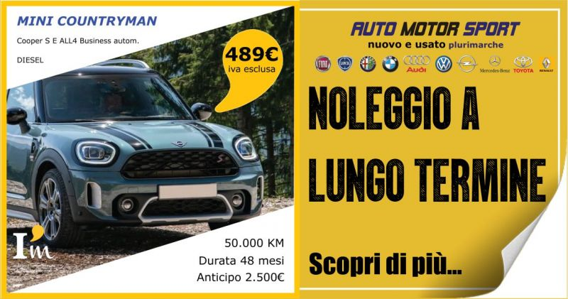 AUTO MOTOR SPORT - offerta noleggio a lungo termine Mini Countryman