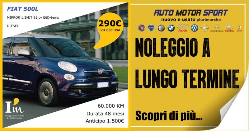 AUTO MOTOR SPORT - offerta noleggio a lungo termine FIAT 500 L