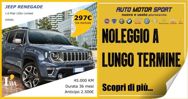 AUTO MOTOR SPORT - offerta noleggio a lungo termine Jeep Renegade