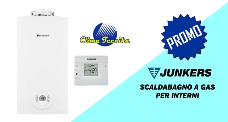 Clima Tecnika - offerta scaldabagno junkers hydrocompact  a gas interni 18 15 12 lt