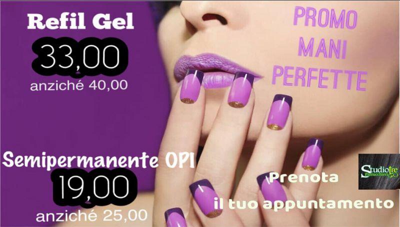 Offerta manicure trattamento refil gel cosenza - promo manicure semipermanente opi cosenza