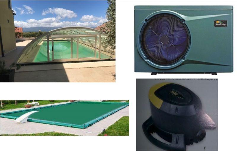 Copertura - svuotatelo - copertura telescopica - pompa di calore