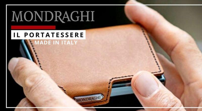 Offerta vendita portatessere Mondraghi Lecce - occasione piccolo portafoglio in pelle Lecce