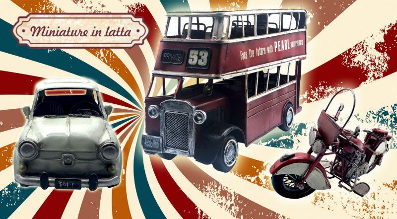 Offerta miniature in latta online lecce - promozione modellino auto in latta matino lecce