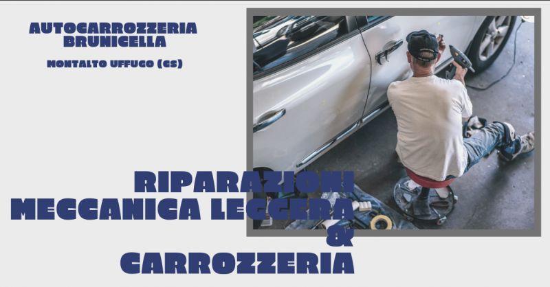 Autcarrozzeria brunicella offerta riparazioni meccanica leggera cosenza - promozione tagliando