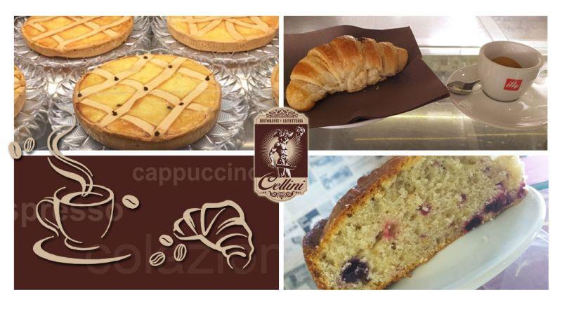RISTORANTE CELLINI - OFFERTA caffetteria colazione al bar COSENZA - PROMOZIONE colazione cornetto dolce artigianale COSENZA