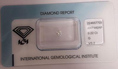 diamante naturale brillante rotondo certificato igi