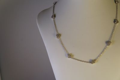 collana oro bianco 750