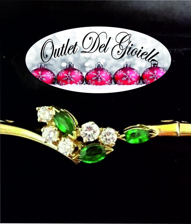offerta bracciale Damiani con smeraldi - promozioni bracciale gioiello Damiani con diamanti