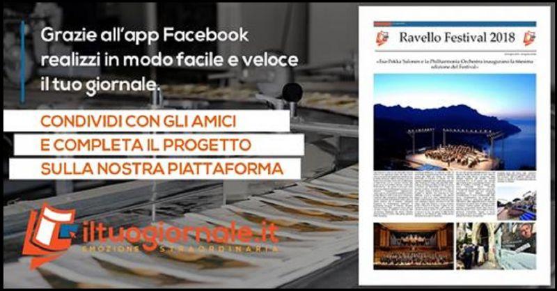 ILTUOGIORNALE.IT Promozione servizio Crea e stampa il tuo giornale personalizzato online