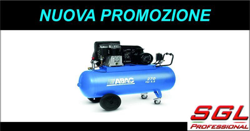 sgl professional offerta compressore abac - occasione compressore con trasmissione a cinghia