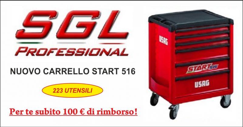 sgl professional offerta nuovo carrello start 516 - occasione carrello con 223 utensili perugia