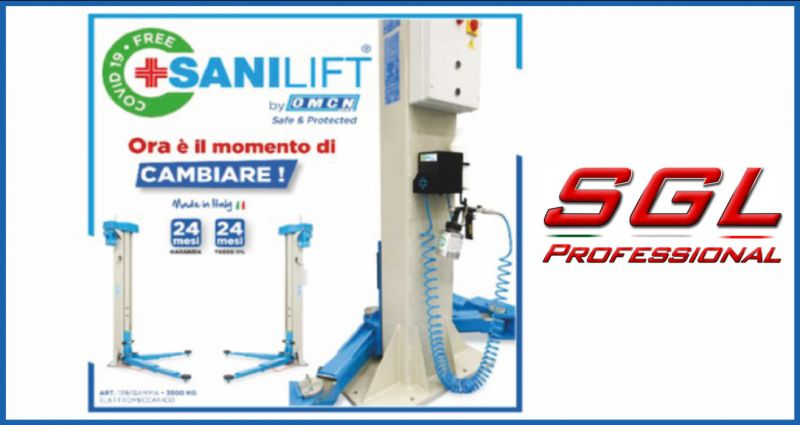 sgl professional offerta noleggio ponte a 2 colonne - occasione officina meccanica perugia